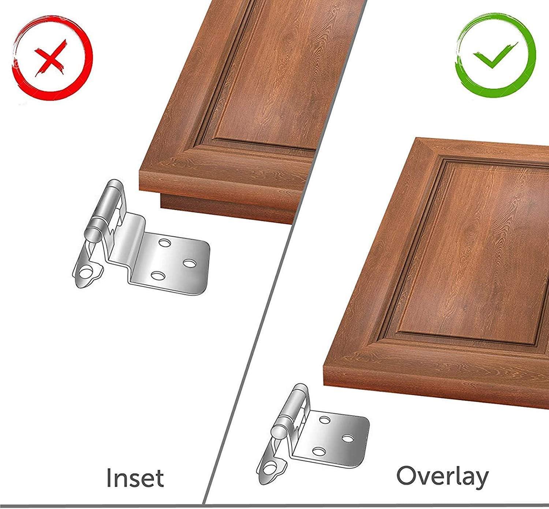 Pinson 10 pares Bisagras de lat/ón envejecido con cierre suave para puerta de cocina 1
