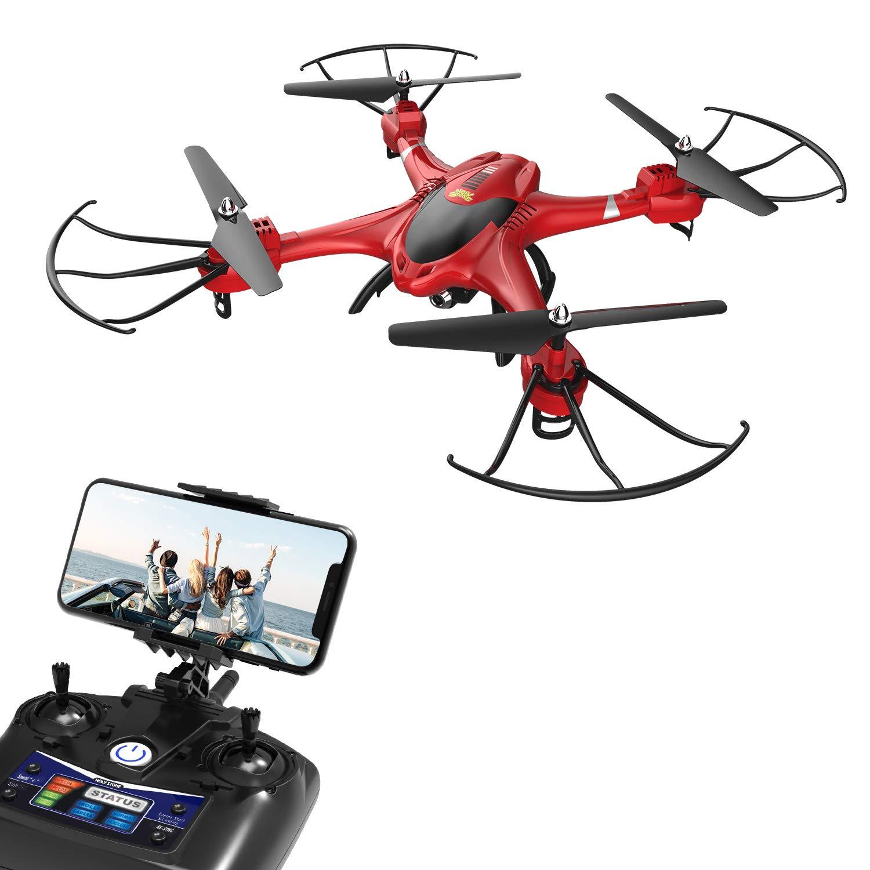 Holy Stone HS200R FPV RC RC RC Drohne mit HD Kamera, RC Drone 720x, RC Quadrocopter Ferngesteuert RC Helikopter mit Automatischer Höhenhaltung, 2.4Ghz 6-Axis Gyro Stabilization System, Kopflosem Modus, Echtzeit-Bildübertragung, Längerer Flugzeit, 734aec