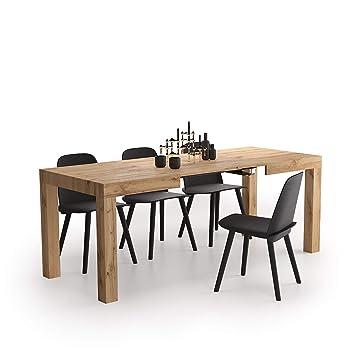 Mobili Fiver, Mesa de Cocina Extensible, Modelo First, Color Madera ...