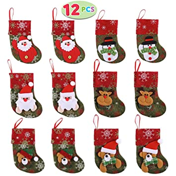 Image Unavailable - Amazon.com: JOYIN Set Of 12 Mini Christmas 3D Stockings Gift & Treat