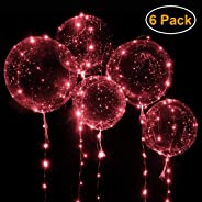 Valentine's Balloons with Red LED String Lights BoBo Balloon for Valentines Day Decoration Wedding Christmas and Party - Infl
