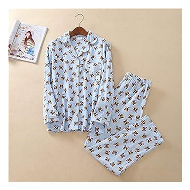 75e84ed12157 Pink Pajama Sets Women Cute Dachshund Print 2 Pieces Set Long Sleeve Top  Elastic Waist Pants at Amazon Women s Clothing store
