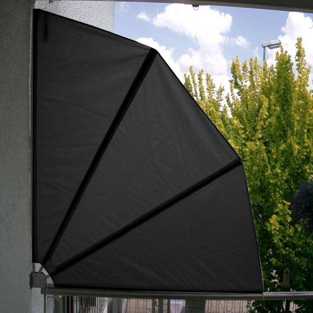 Hengmei 140 X 140 Cm Balkonfacher Klappbar Mit Wandhalterung