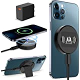 KKM Magnetic Wireless Charger, Compatible with MagSafe Charger, 15W Fast Charging Pad for iPhone 12/12 Pro/12 Pro Max /12 Min