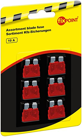 Orange 6-er pack Fixpoint 20387 Kfz-Sicherungssortiment Mini 5 A