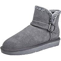 Festooning Womens Sherpa Warm Plush Lined Boots Slipper Memory Foam Anti-Slip Indoor Outdoor Shoes