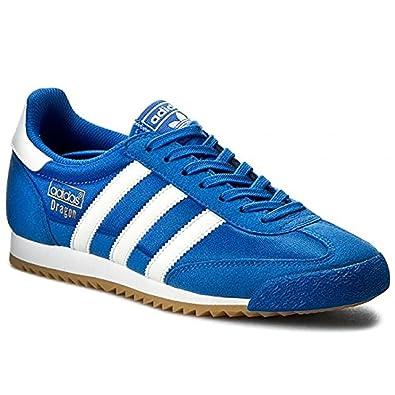 Amazon.com   Adidas Originals Mens Dragon OG Fashion Sneakers Blue ... ab71b068a516