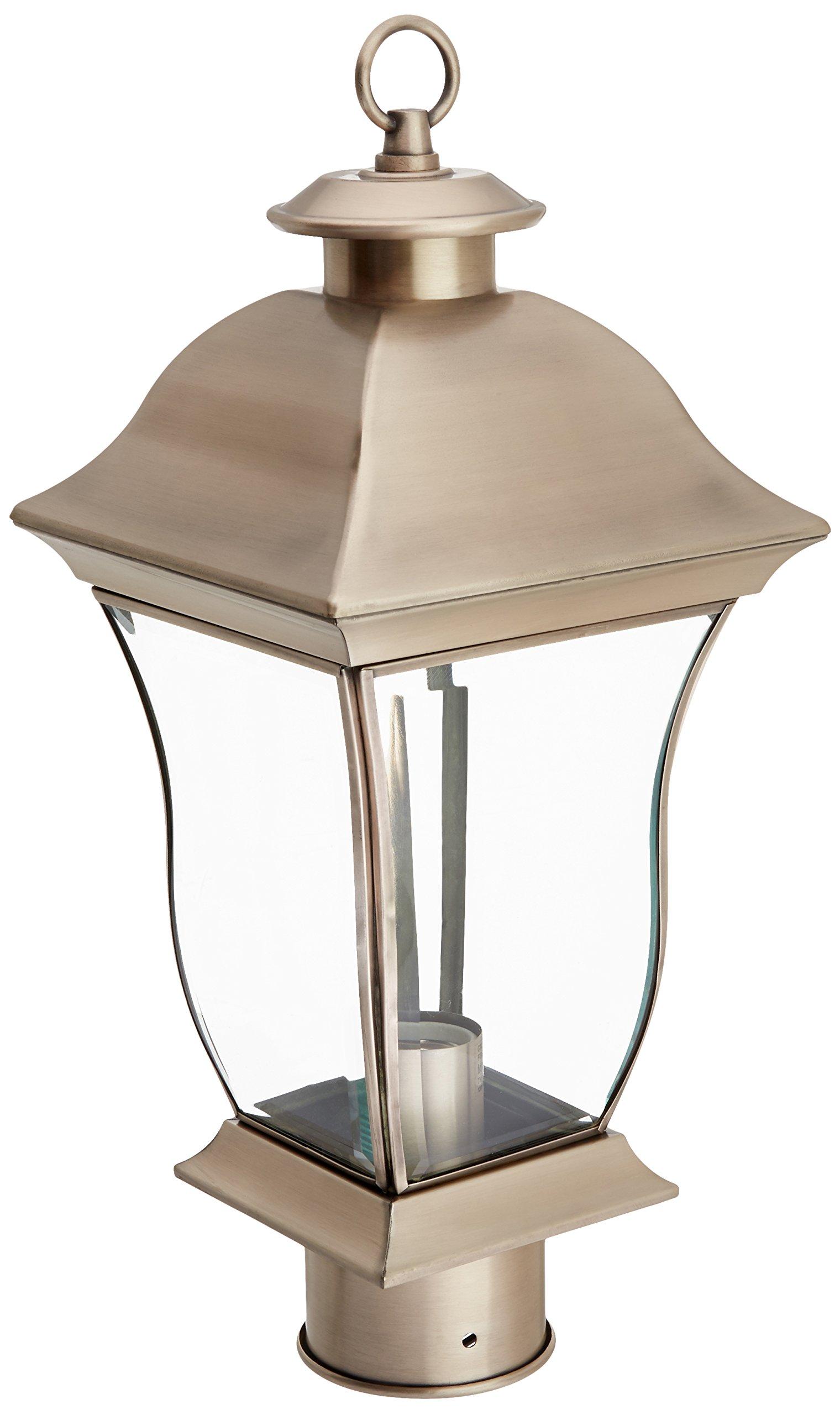 Trans Globe Lighting 4972 BN Outdoor Downing 17'' Postmount Lantern, Brushed Nickel