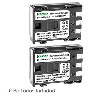 Amazon.com: Kastar Cargador, Batería para nb-2l-1 NB-2L NB2L ...
