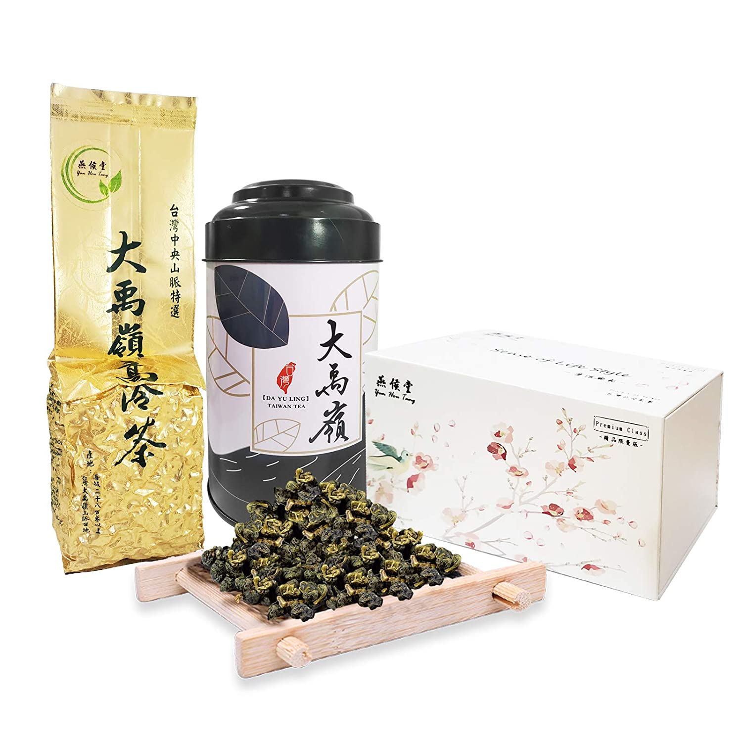 Yan Hou Tang Exclusive Organic Taiwan Da Yu Ling Oolong Tea King Imperial Royal Top Grade Premium Green Jade Full Loose Leaf - 150g Exquisite Souvenir Gift Box Jar Mountain Forest Taste Chinese Tea