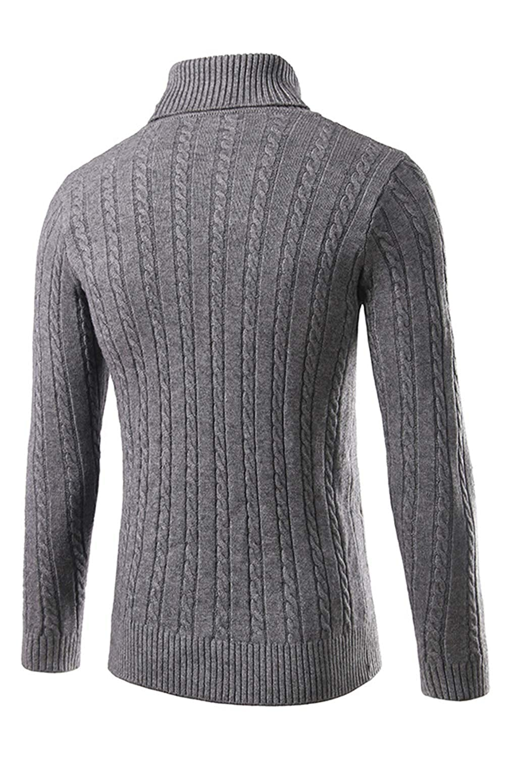 Mens Sweaters Long Sleeve High Neck Warm Heavyweight Pullover Tops