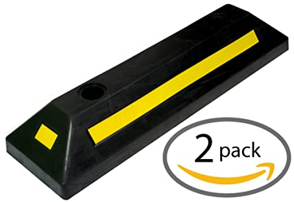 Garage Parking Stop >> Amazon Com Bunkerwall Heavy Duty Rubber Parking Guide Car Garage