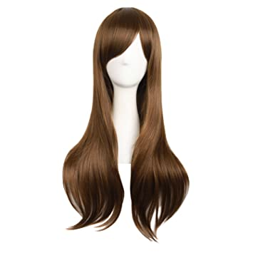 "MapofBeauty 28""/70cm Women Side Bangs Long Curly Hair Cosplay ..."