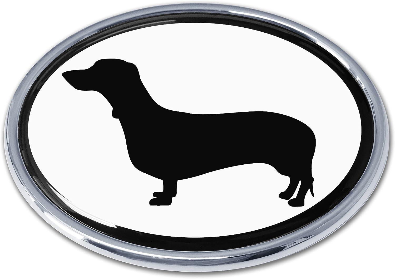 Elektroplate I Love My Dog Chrome Auto Emblem