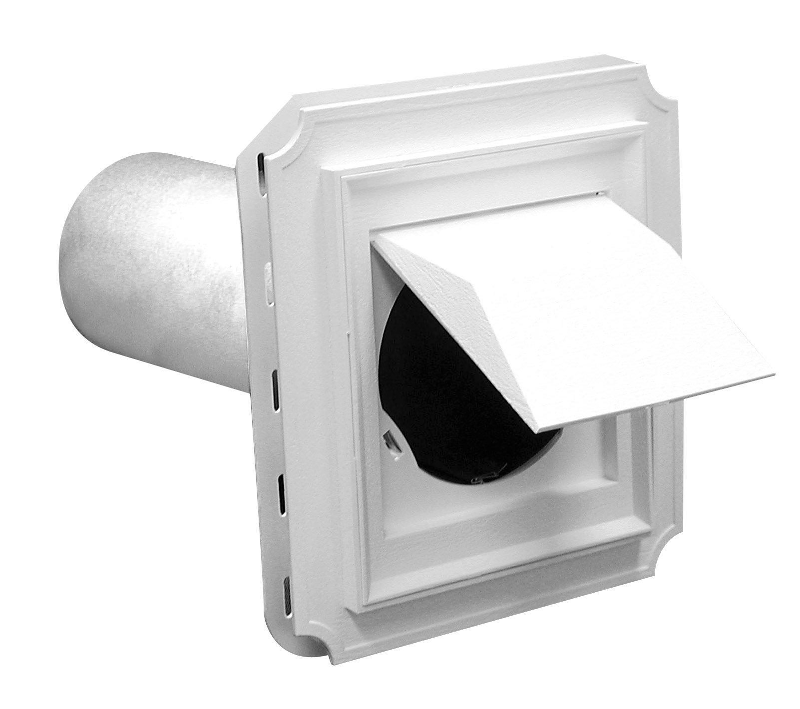 Duraflo 641015-00 Dryer Vent Block, White
