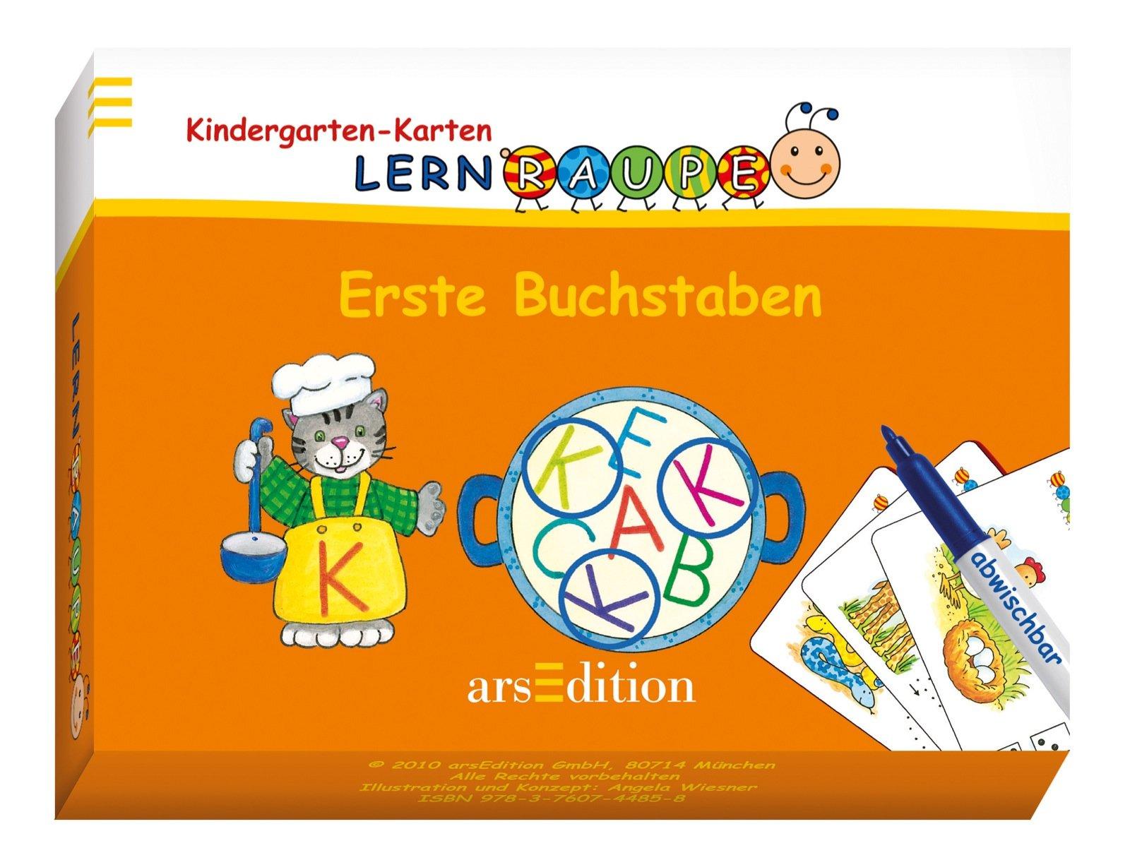Kindergarten-Karten: Erset Buchstaben
