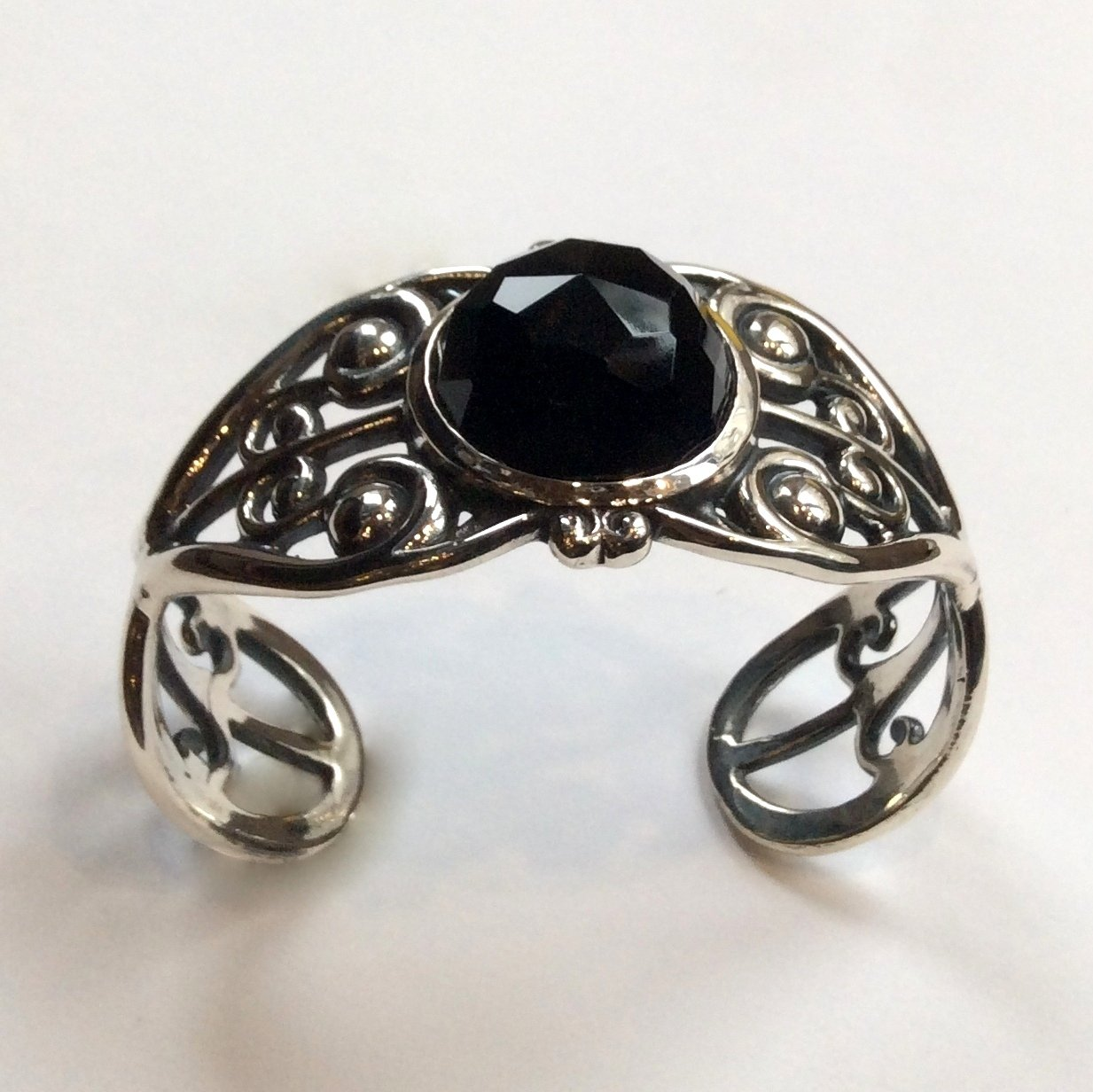 fashionable cuff bangle gift Natural black onyx 925 sterling silver cuff bracelet party wear superb men /& women jewelry designer jewelry