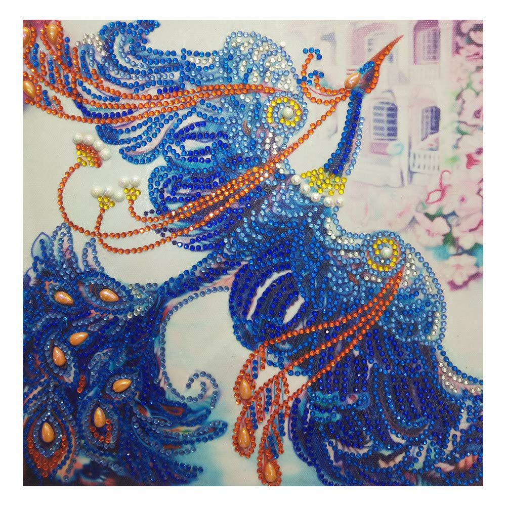 YIYEZI Special Shaped Crystal Diamond Painting DIY 5D Partial Drill Cross Stitch Arts Craft Supply Kits Crystal for Home Wall Decor (C)