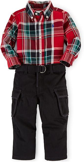 Ralph Lauren Polo bebé niños 2 Piezas Plaid Camisa y ...