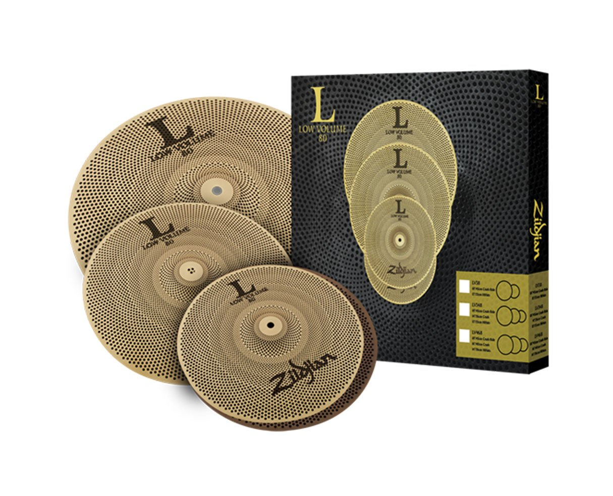 Zildjian L80 Low Volume 348 Cymbal Box Set by Avedis Zildjian Company