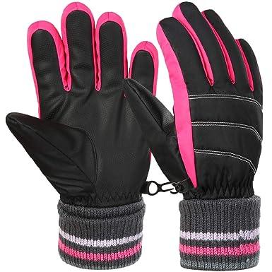 ce995473d5c980 Vbiger Kinder Skihandschuhe Warme Winter Handschuhe Kalt Wetter Handschuhe  Reißfeste Outdoor Sport Handschuhe mit extra langen