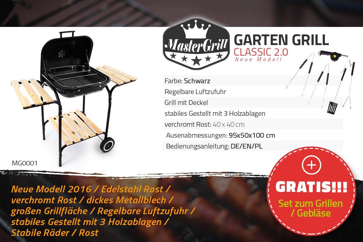 Landmann Holzkohlegrill Rundgrill Corso Schwarz : Barbecook billy holzkohlegrill schwarz cm amazon