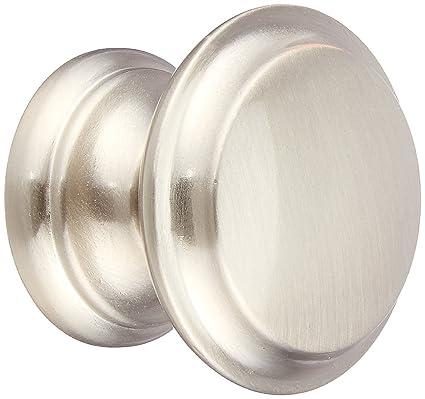 Cosmas 4251SN Satin Nickel Cabinet Hardware Round Knob   1 3/8u0026quot;  Diameter