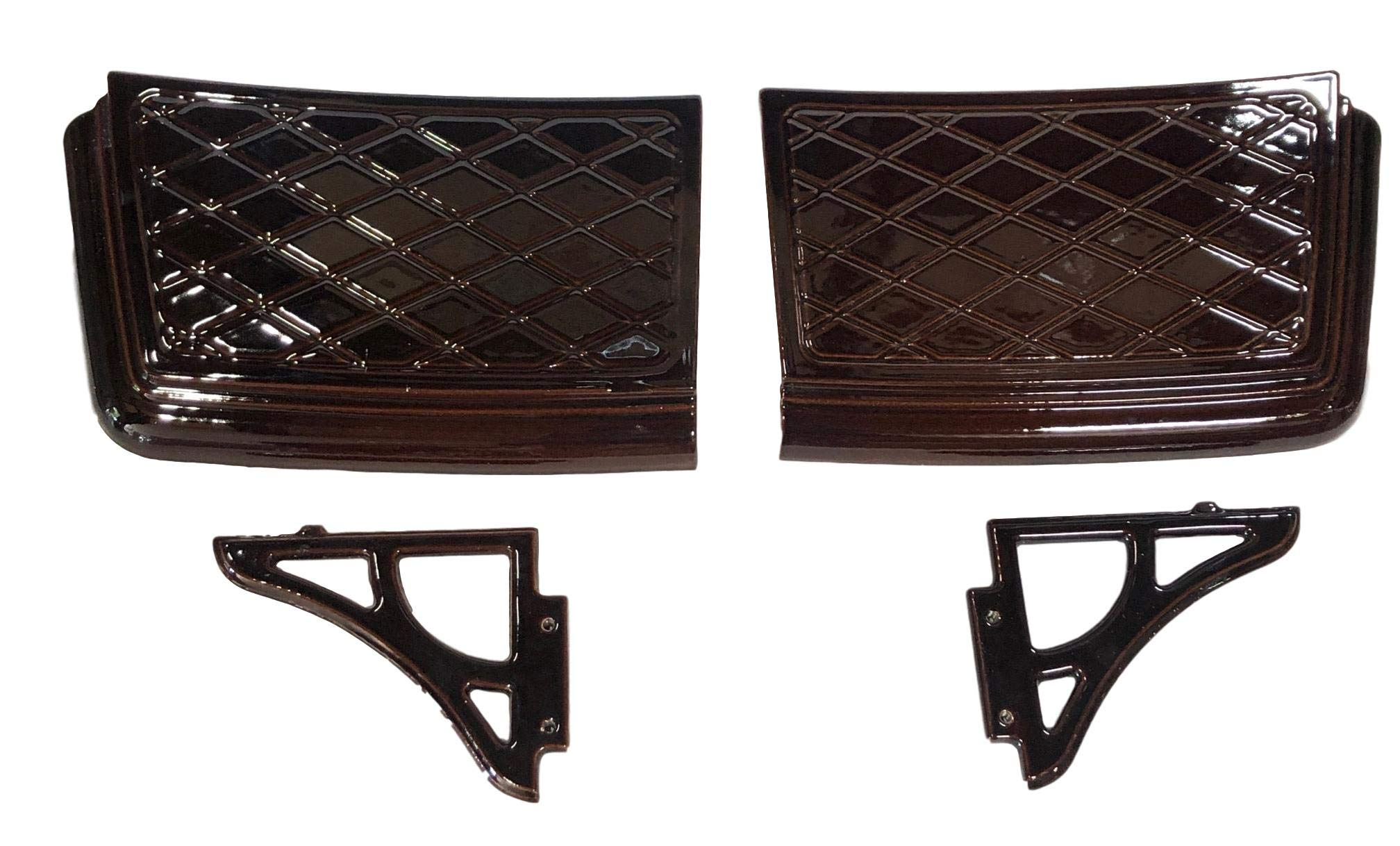 WOLF STEEL Napoleon Cast Side Shelves Porcelain Majolica Brown, GS-SSV-N Gas Stove by WOLF STEEL