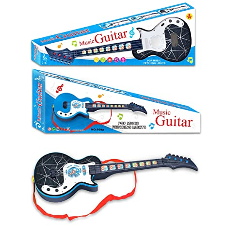 YAKOK 4 Cuerdas Guitarra Electrica Niños Guitarra Bebe Juguete para ...