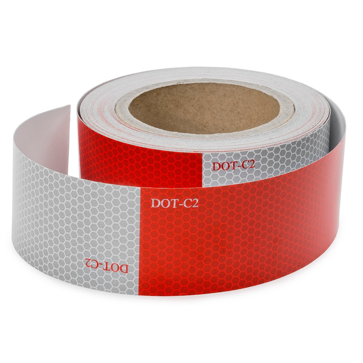 Safety Tape Reflective Tape Auto Car Red And White Adhesive (2'' x 50')