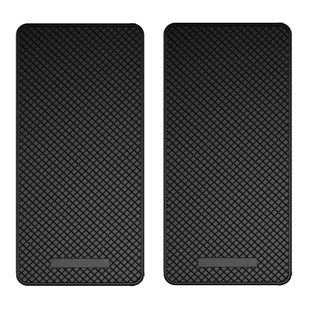 Ganvol (2 Pack Anti-Slip Car Dash Sticky Pads, Heat Resistant Non-Slip Mats, Dashboard Holder 5.3 x 2.7 inch, Don't Stink, Leave no Residue Don't Melt Under Hot Temperature, Reusable After Washing