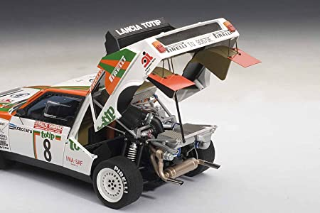 Amazon.com: AUTOart 1/18 Lancia Delta S4 1986 # 8 (San Remo Rally in 2 / Dario Cherato) (japan import): Toys & Games
