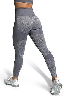 c7013dbcd02b6 MOYOOGA Womens High Waisted Impact Seamless Leggings Workout Tight Yoga  Pants