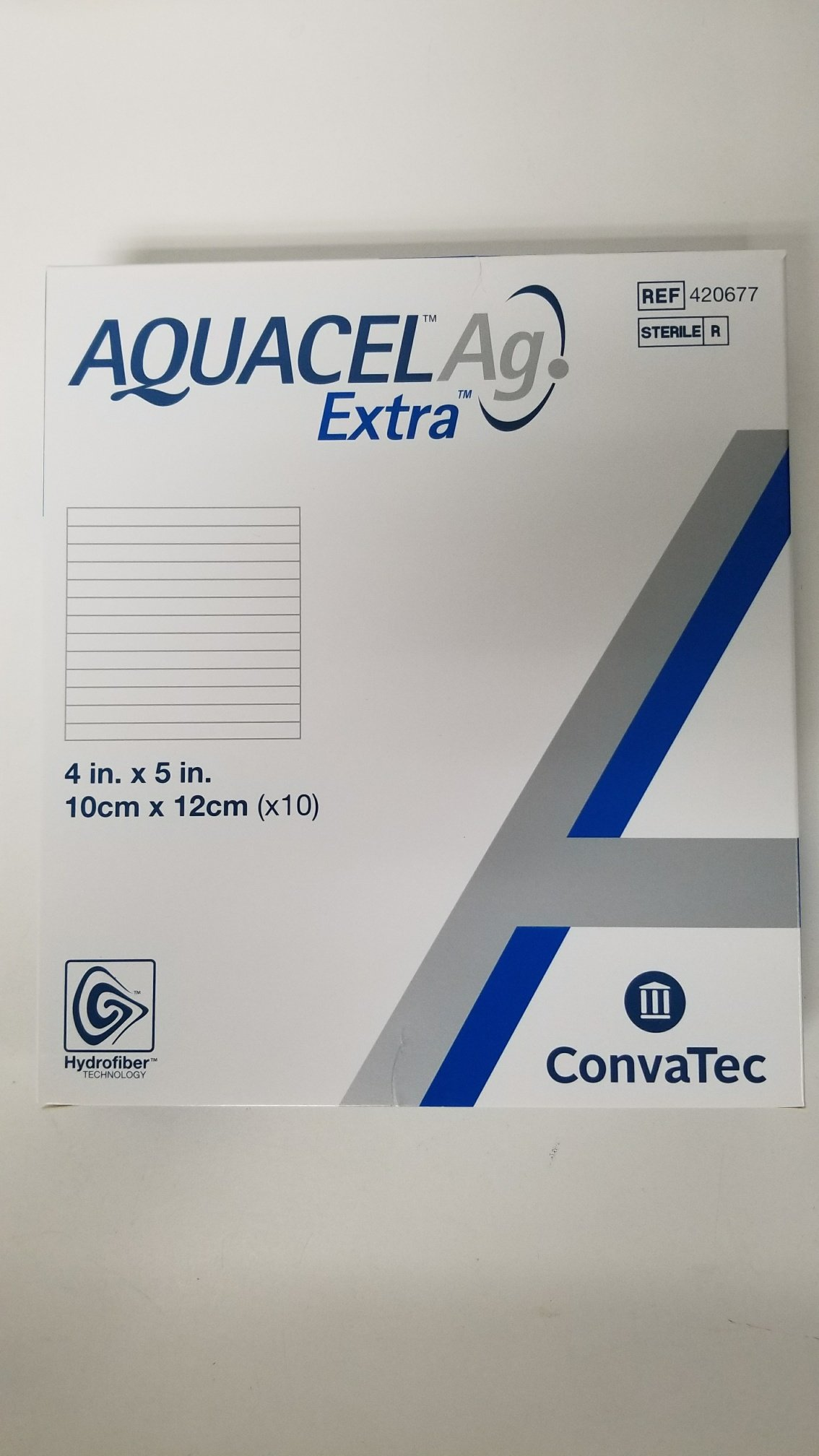 New and Improved AQUACEL AG EXTRA 4'' x 5'' (Box of 10 dressings)