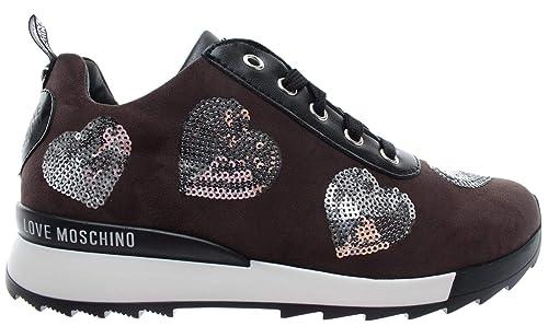 7657f489c8 Love Moschino Scarpe Donna Sneakers Power25 Camoscio Taupe PL Grigio ...