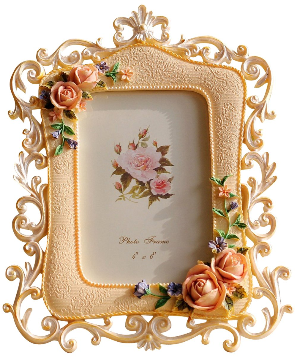 Amazon.com - Giftgarden 4 by 6 Picture Frames Rose Decor Rustic Frame 4x6  Photos for Wedding Gifts, Valentines Gifts, Gift for Mom -