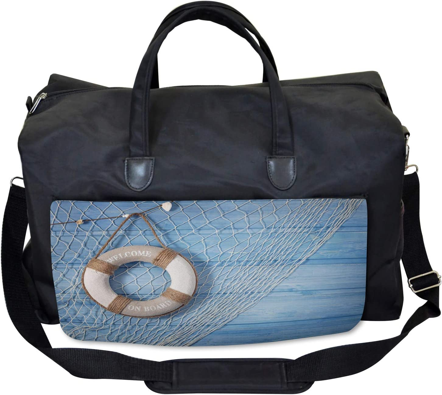 Shabby Nature Leisure Large Weekender Carry-on Ambesonne Antique Gym Bag