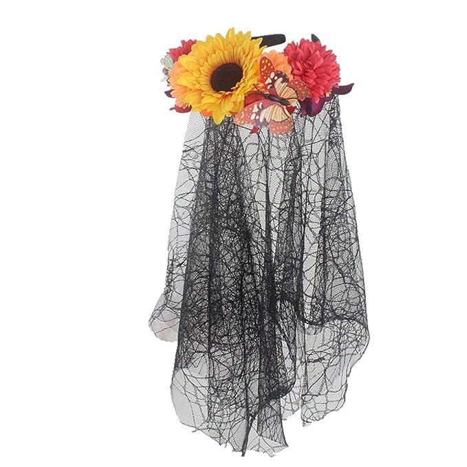 Amazon.com: Diadema ajustable con diseño de flor y girasol ...