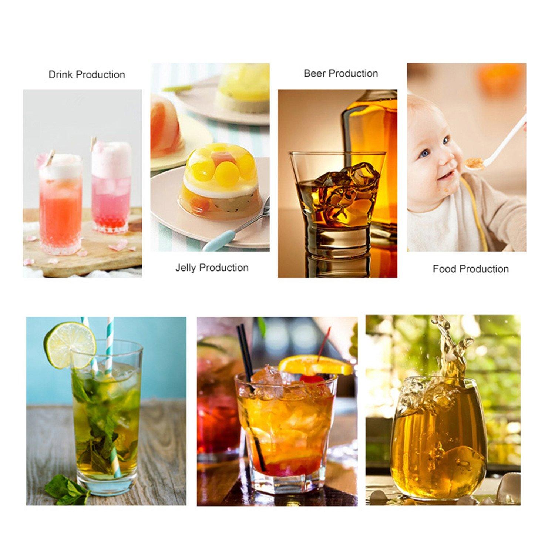 Bedee Moules à Glace, 2pcs Bacs à Glaçons en Silicone, 15 Ice Cubes par Plateau, Idéal pour Le Whisky, Cocktail et Toute Boisson