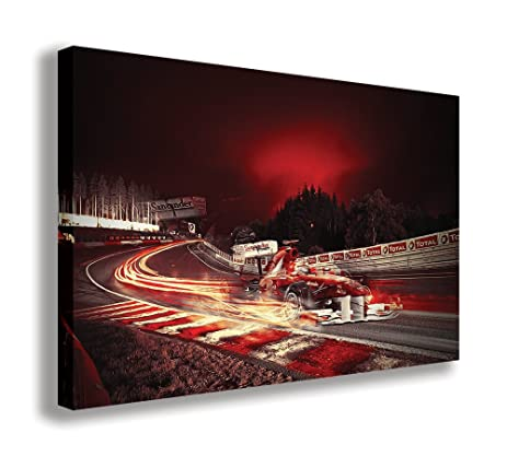 Amazon.com: F1 FERRARI CAR FORMULA ONE RACING CANVAS WALL ART (30\