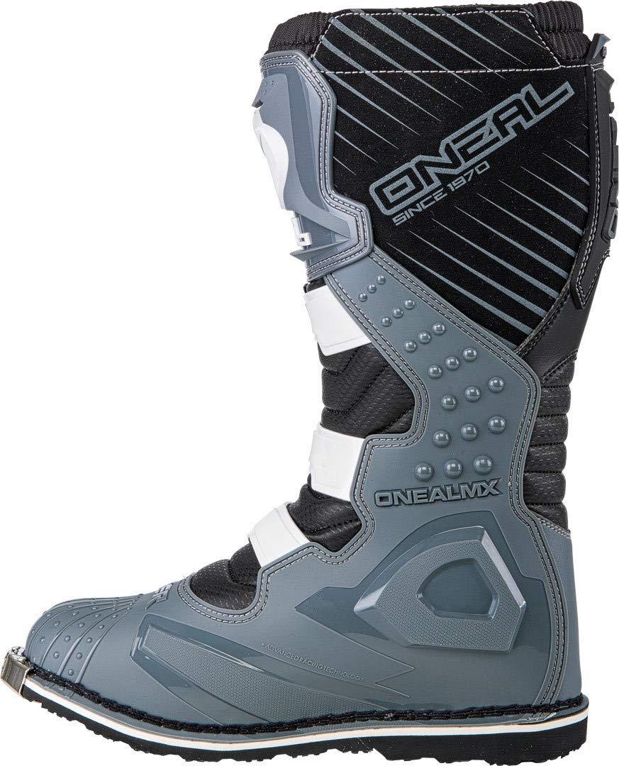 Eu 45 // Us 11 , Grigio Stivali Mx Oneal 2018 Rider Grigio-Neon Giallo