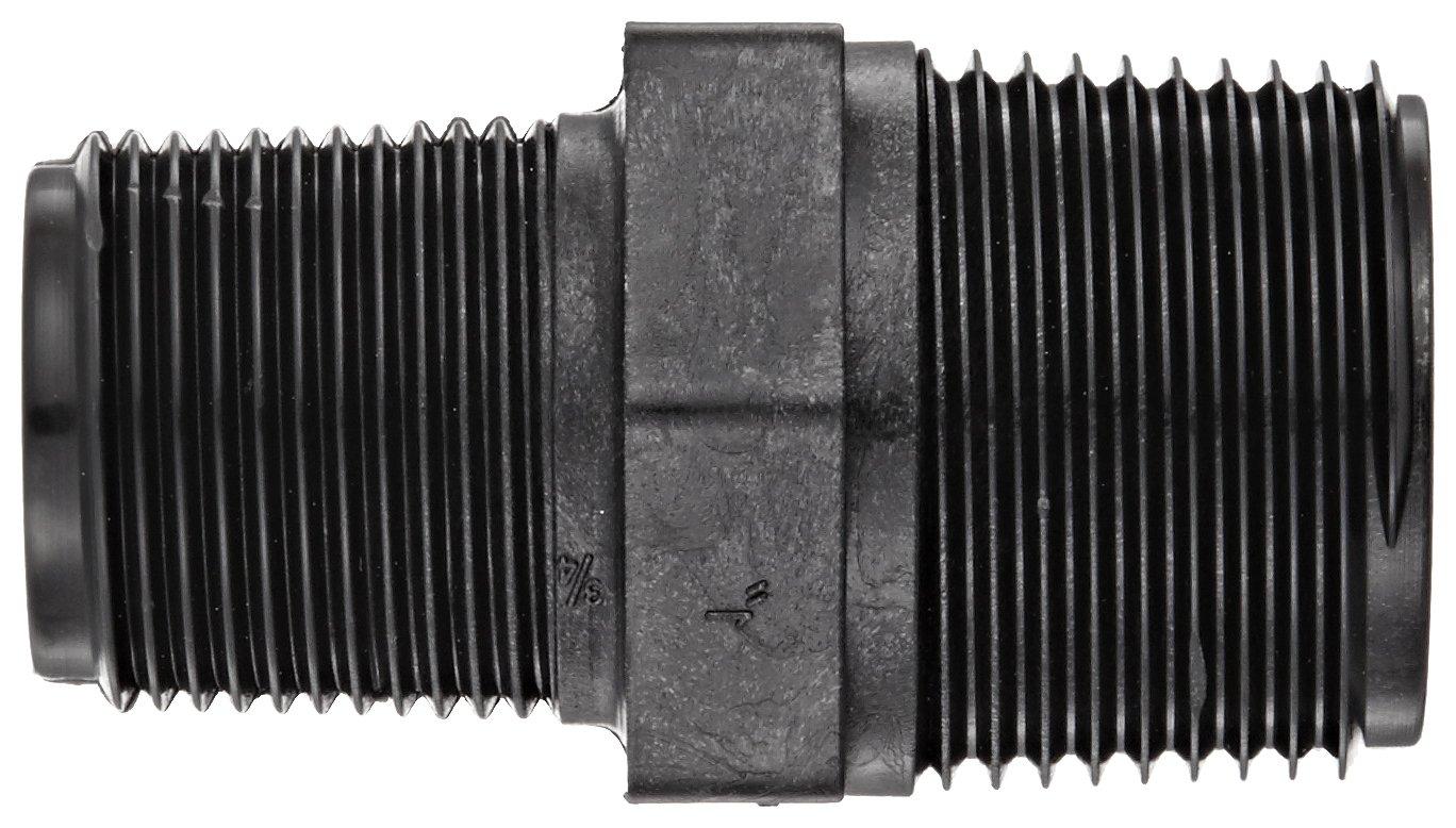 1 NPT Male x 3//4 Length Schedule 80 Reducing Nipple Banjo RN100-075 Polypropylene Pipe Fitting
