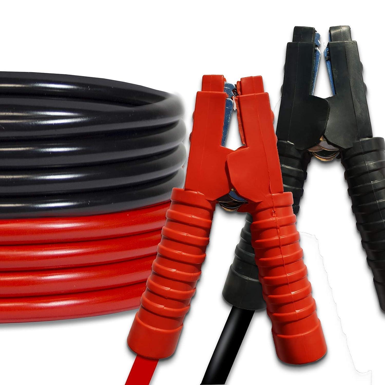 Terratek Professionnelle isolée Câbles de démarrage 1200Amp 6m de Long, Heavy Duty Câbles de démarrage, Sac de Transport à Fermeture éclair Heavy Duty Câbles de démarrage