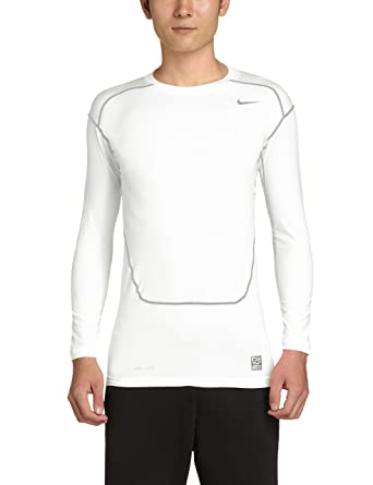 Nike Mens Core 2.0 Compression Long Sleeve LS Top White/Cool Grey 449794-063