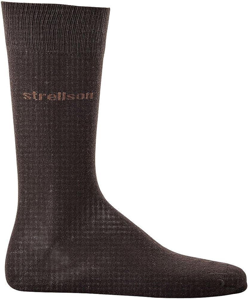 Strellson 2 PAIR Calcetines de hombre, algodón suave, medias, colores lisos, talla 39-46: Color: Mocca | Size: UK 6-8: Amazon.es: Ropa y accesorios
