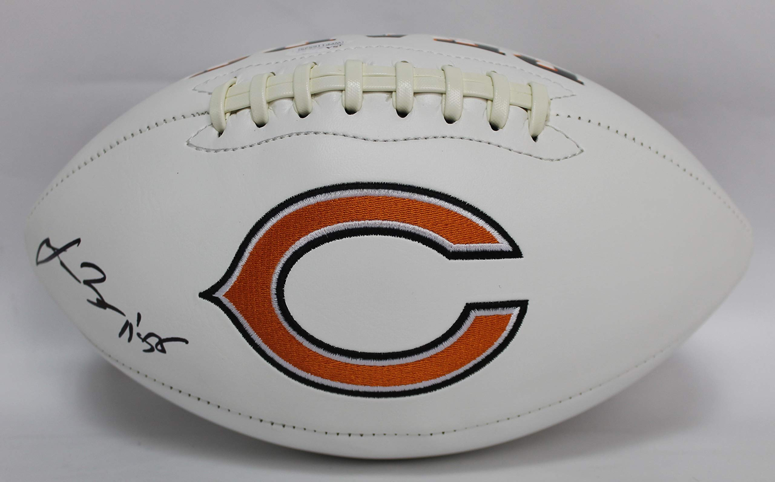 Lance Briggs Autographed Chicago Bears White Panel Football w/JSA COA