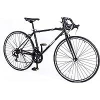 Smartman 700C Road Bike 21 Speed Bicycle Black Road Bikes black