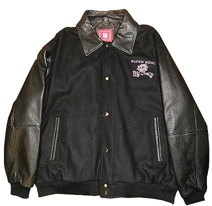 G-III New York Giants VS New England Patriots Superbowl XLII Mens Wool  Leather Jacket 1738513f4