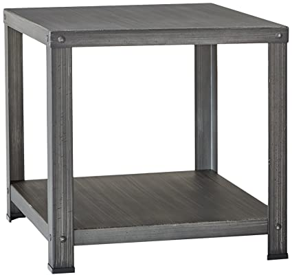 Charmant Ashley Furniture Signature Design   Hattney   Vintage Casual Square End  Table   Industrial Style