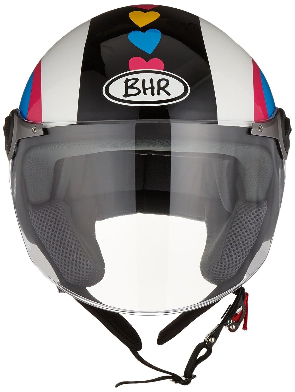 S BHR 93782 Demi-Jet Super Love 710 Casco de Moto Talla 55//56